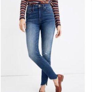 """Madewell 10"""" tulip hem skinny jeans"""